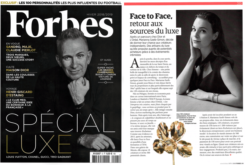 NEW LUXURY FORBES FACE TO FACE