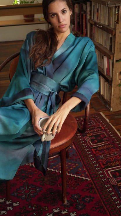 Escrin robe niki bleu