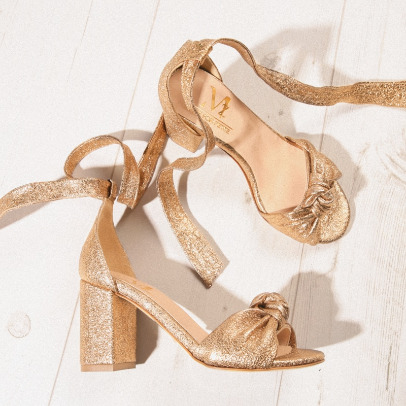 Sandales Liliane Gold MZ Made for Petite Chaussures