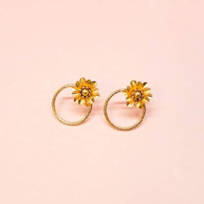 Boucles d'oreilles Daisy | Marie Gold |Bijoux | Face to Face