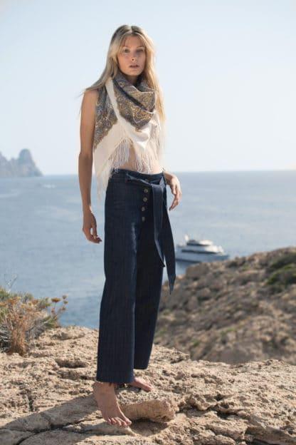 Pantalon Mitya en jean de coton bio Svetlana K Mode