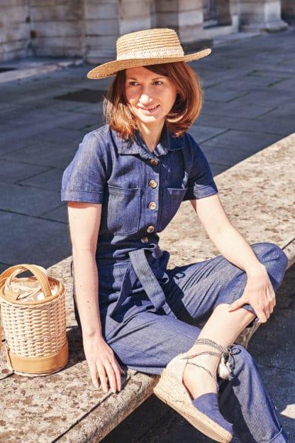 Combinaison Maksim en jean de coton bio Svetlana K Mode