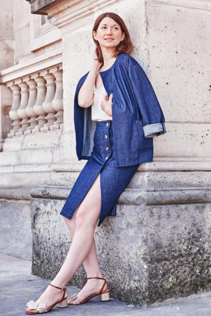 Jupe Mila en coton bio Svetlana K Mode