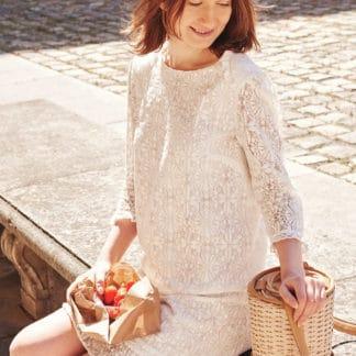 Robe Masha en dentelle italienne de coton Svetlana K Mode