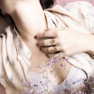 Bague réglable Sunny Marie Gold