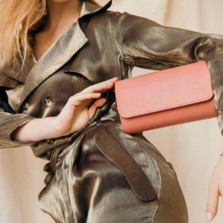 Sac Renée New Antic Pink |Sainte Isaure | Maroquinerie