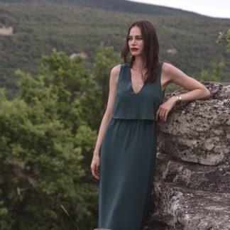 Robe Jaipur Vert émeraude-Labl01 -Mode