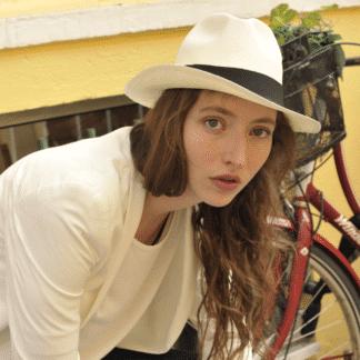 Chapeau Panama Classic Blanc Accessoires Equinox Ecuador