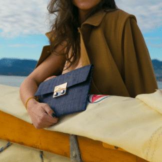 Pochette Aina Night - Dark Blue | Good People |Maroquinerie
