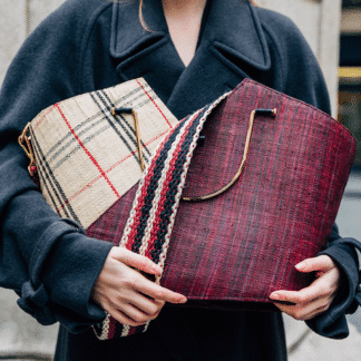 Panier Mani Day - Wine / Tartan | Good People | Maroquinerie | Story Shop