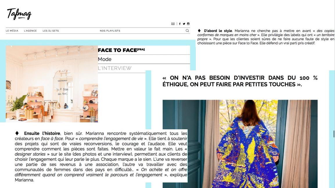 FacetoFace_Tagmag_presse