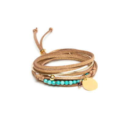 BraceletHalonadoreetturquoise-ValerieSanyas-Bijoux-FacetoFace
