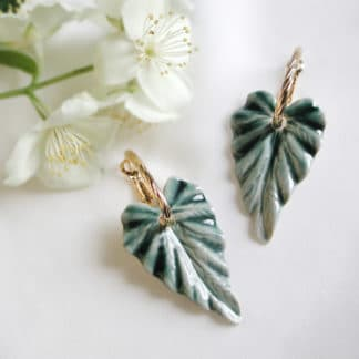 Boucles d'oreilles Hosta Aqua-Brüme Lydie Smith-Bijoux-Face To Face