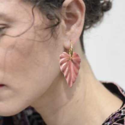 Boucles d'oreilles Hosta Nude-Brüme Lydie Smith-Bijoux-Face To Face
