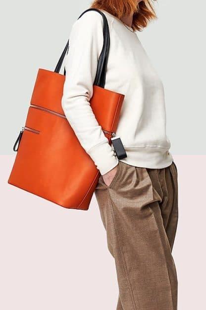 Le Généreux - Orange rust-Karen Vogt-Maroquinerie-Face To Face