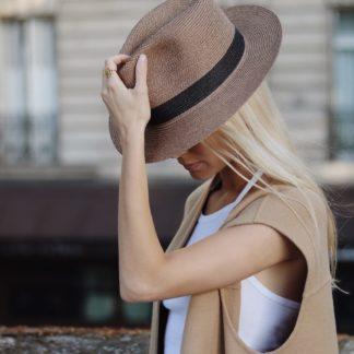 Chapeau Portofino Noir | Lastelier |Maroquinerie | Shop Face to Face