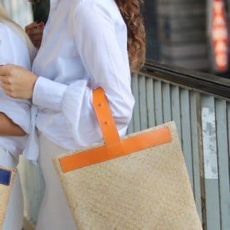 Sac Ubud Orange |Lastelier |Maroquinerie | Shop Face to Face