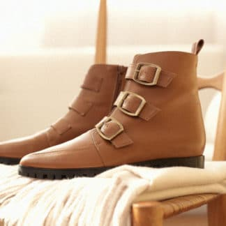 Bottines Iris Camel Emzi Mode Chaussures