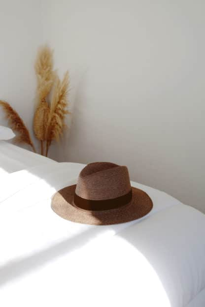 Chapeau Portofino Marron de Lastelier   Accessoires Créateurs