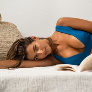Haut Matilde Bleu Azur | Joaquine | Mode Maillots de bain Éco-responsables