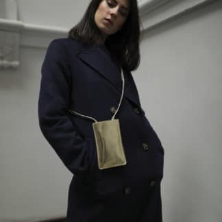 Pochette portable dorée |Raphaëlle Germain | Maroquinerie Créateurs