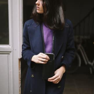 Pochette portable noir |Raphaëlle Germain | Maroquinerie Créateurs