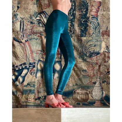 legging-velours-vert-malachite-pattes-de-velours-kinga-nogaj-facetoface