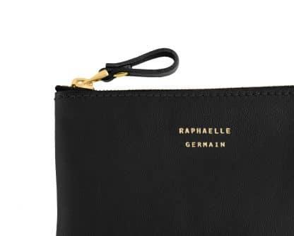 Porte-monnaie noir-Raphaëlle Germain- Maroquinerie-Face To Face